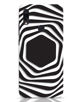 Shop Abstract Line Xiaomi Redmi Note 7 Mobile Cover-Front
