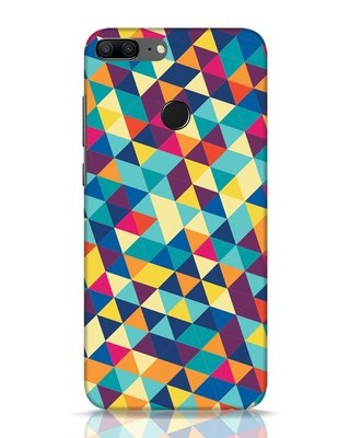 Shop Abstract Triangles Huawei Honor 9 Lite Mobile Cover-Front