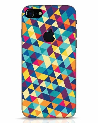 Shop Abstract Triangles iPhone 7 Logo Cut Mobile Cover-Front