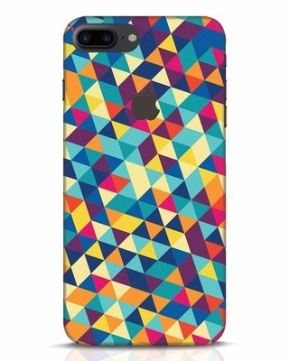 Shop Abstract Triangles iPhone 7 Plus Logo Cut Mobile Cover-Front