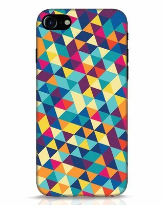 Shop Abstract Triangles iPhone 8 Mobile Cover-Front