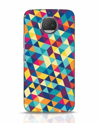 Shop Abstract Triangles Moto G5s Plus Mobile Cover-Front
