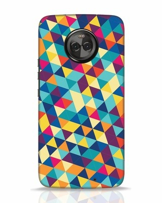 Shop Abstract Triangles Moto X4 Mobile Cover-Front