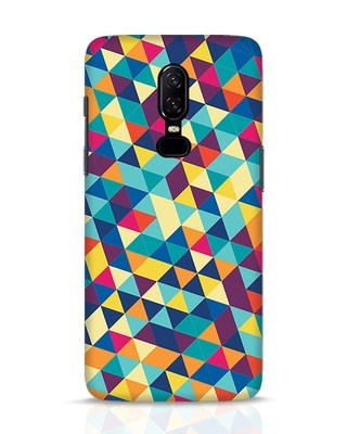 Shop Abstract Triangles OnePlus 6 Mobile Cover-Front