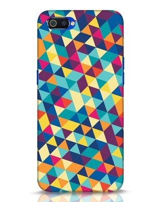 Shop Abstract Triangles Realme C2 Mobile Cover-Front