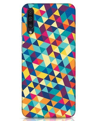 Shop Abstract Triangles Samsung Galaxy A50 Mobile Cover-Front
