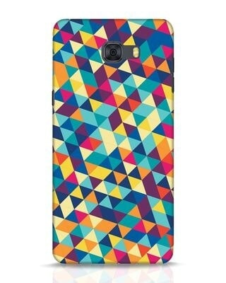 Shop Abstract Triangles Samsung Galaxy C9 Pro Mobile Cover-Front
