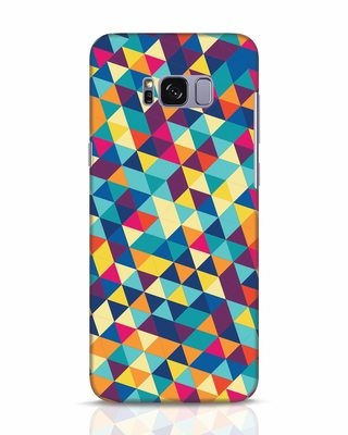 Shop Abstract Triangles Samsung Galaxy S8 Mobile Cover-Front