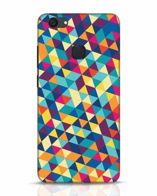 Shop Abstract Triangles Vivo V7 Plus Mobile Cover-Front