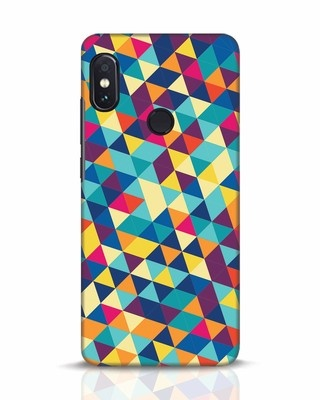 Shop Abstract Triangles Xiaomi Redmi Note 5 Pro Mobile Cover-Front