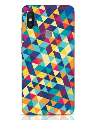 Shop Abstract Triangles Xiaomi Redmi Y2 Mobile Cover-Front