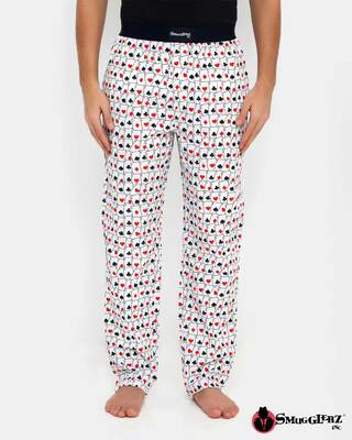 Shop Smugglerz Ace Cards Pyjamas White-Front
