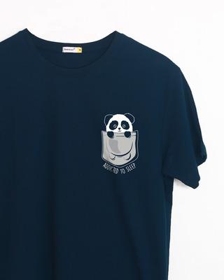 Shop Addicted To Sleep Half Sleeve T-Shirt-Front