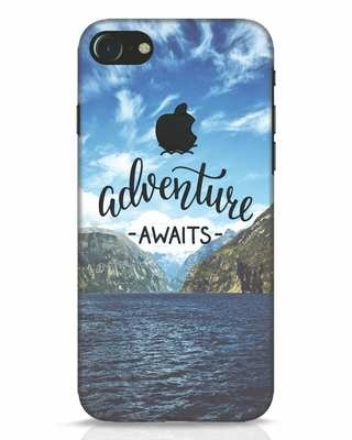 Shop Adventire Awaits iPhone 7 Logo Cut Mobile Cover-Front