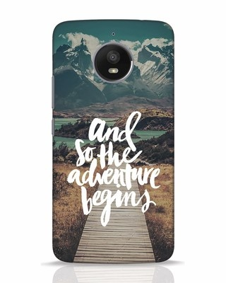 Shop Adventure Begins Moto E4 Plus Mobile Cover-Front