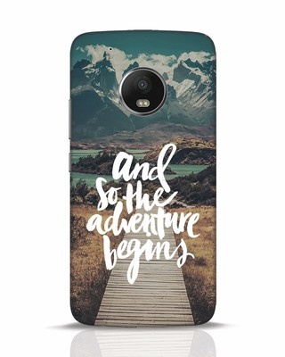 Shop Adventure Begins Moto G5 Plus Mobile Cover-Front