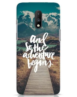 Shop Adventure Begins OnePlus 7 Mobile Cover-Front