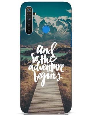 Shop Adventure Begins Realme 5 Mobile Cover-Front