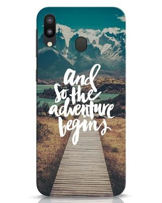 Shop Adventure Begins Samsung Galaxy M20 Mobile Cover-Front