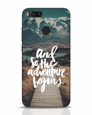 Shop Adventure Begins Xiaomi Mi A1 Mobile Cover-Front