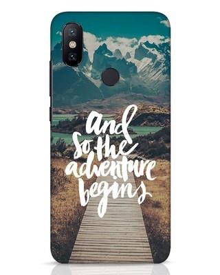 Shop Adventure Begins Xiaomi Mi A2 Mobile Cover-Front