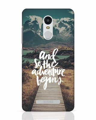 Shop Adventure Begins Xiaomi Redmi Note 3 Mobile Cover-Front