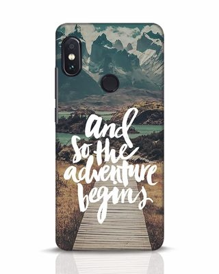 Shop Adventure Begins Xiaomi Redmi Note 5 Pro Mobile Cover-Front
