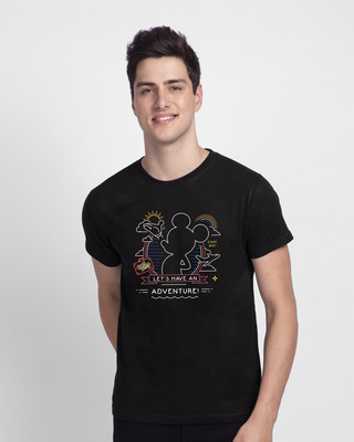 Shop Adventure Mickey Half Sleeve T-shirt (DL) Black-Front