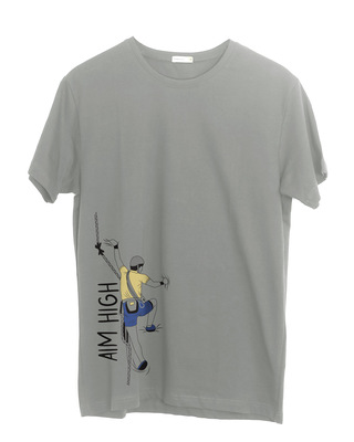 Shop Aim High Half Sleeve T-Shirt-Front