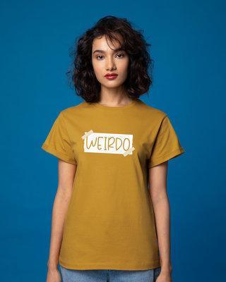 Shop Ajeeb Boyfriend T-Shirt-Front