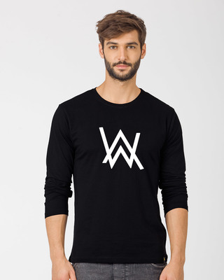 Shop Alan Walker Full Sleeve T-Shirt (GID)-Front