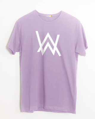 Shop Alan Walker Half Sleeve T-Shirt (GID)-Front