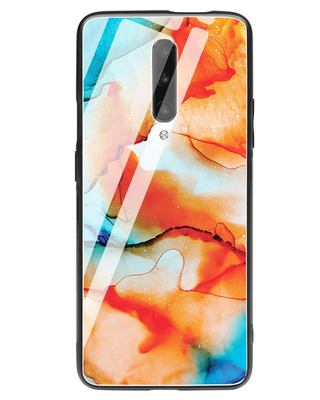 Shop Alcohol Ink Splash OnePlus 7 Pro Glass Mobile Cover-Front