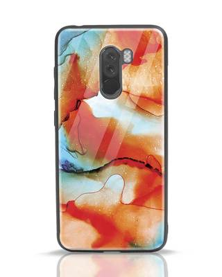 Shop Alcohol Ink Splash Xiaomi POCO F1 Glass Mobile Cover-Front