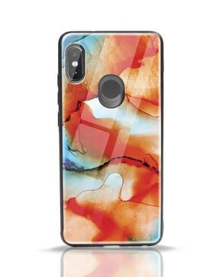 Shop Alcohol Ink Splash Xiaomi Redmi Note 5 Pro Glass Mobile Cover-Front