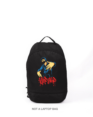 Shop All About Hip Hop Printed Small Backpack-Front