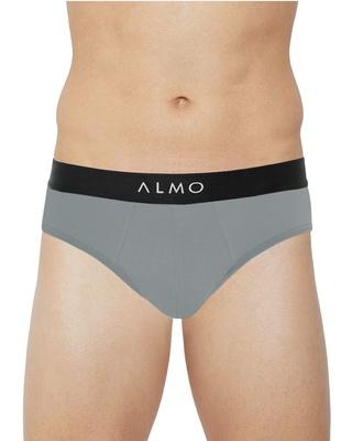 Shop Almo Rico Metallic Solid Organic Cotton Brief-Front