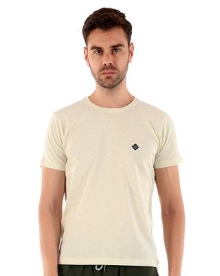 Shop Almo Rico Organic Cotton Melange T-Shirts - Off-White-Front