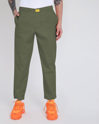Shop Alpha Green Pyjama-Front