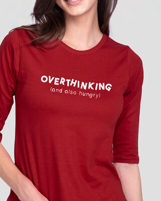 Shop Also Hungry Round Neck 3/4th Sleeve T-Shirt-Front