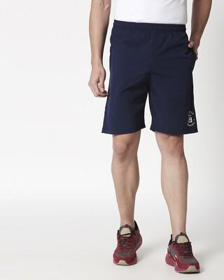 Shop Alstyle | Navy Taffeta Shorts-Front