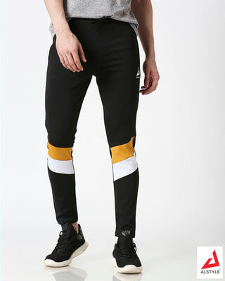 Shop ALSTYLE Men Black Track Pant-Front