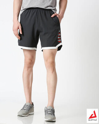 Shop ALSTYLE Men Grey Shorts-Front