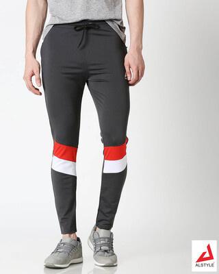 Shop ALSTYLE Men Grey Track Pant-Front