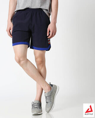 Shop ALSTYLE Men Navy Shorts-Front