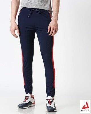 Shop ALSTYLE Men Navy Track Pant-Front