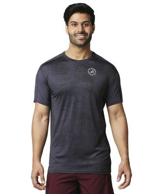 Shop ALSTYLE Printed Men Round Neck Navy T-Shirt-Front