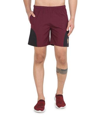 Shop ALSTYLE Solid Men Maroon Basic Shorts-Front