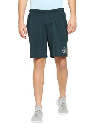 Shop Alstyle Solid Men Olive Regular Shorts-Front