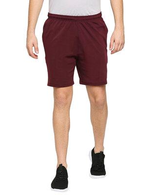 Shop Alstyle Solid Men Wine Regular Shorts-Front